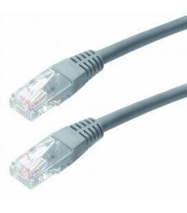 Καλώδιο Δικτύου Jasper Cat 6 UTP 1m Γκρί Patch Cord