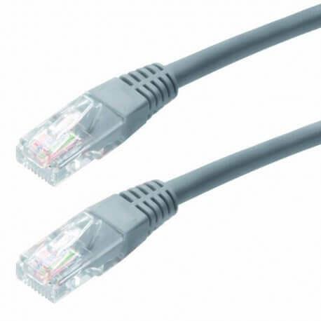 Καλώδιο Δικτύου Jasper Cat 6 UTP 5m Γκρί Patch Cord