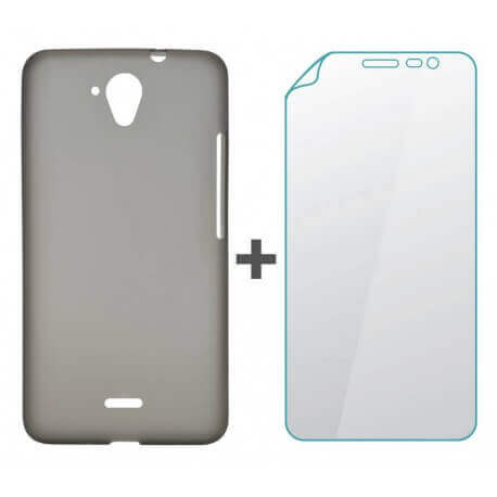 Θήκη TPU Hisense για F20 Smoke + Screen Protector