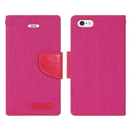 Θήκη Book Goospery Canvas Diary για Apple iPhone 7 Plus Ρόζ by Mercury