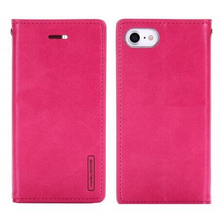 Θήκη Book Goospery Bluemoon Flip για Apple iPhone 7 Ρόζ by Mercury