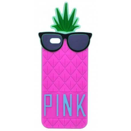 Θήκη Σιλικόνης Ancus Pineapple για Apple iPhone 6 Plus/6S Plus Φούξια
