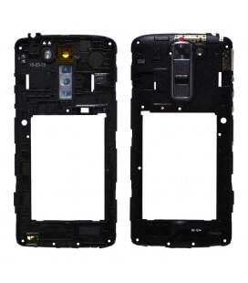 Μεσαίο Πλαίσιο LG K7 X210 με Buzzer, Κεραία και Τζαμάκι Κάμερας Μαύρο Original ACQ88938907