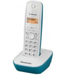 Ασύρματο Ψηφιακό Τηλέφωνο Panasonic KX-TG1611 Λευκό-Τυρκουάζ