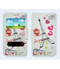 "Θήκη Book Ancus S-View Elastic Art Collection Universal για Smartphone 4.9"" - 5.2"" Heart Λευκή"
