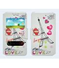 """Θήκη Book Ancus S-View Elastic Art Collection Universal για Smartphone 4.9"""" - 5.2"""" Heart Λευκή"""