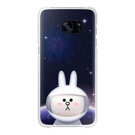"""Θήκη Faceplate Samsung S7 Line Friends Cover """"Cony"""" EF-XG930LWEGWW για SM-G930F Galaxy S7 Μαύρη"""