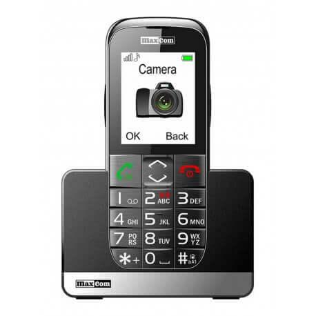 Maxcom MM720BB με Μεγάλα Πλήκτρα, Bluetooth, Ραδιόφωνο, Φακό, Κάμερα και Πλήκτρο Έκτακτης Ανάγκης Μαύρο