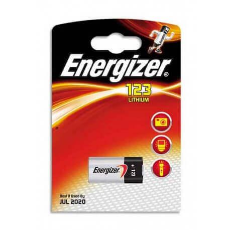 Μπαταρία Lithium Energizer CR123 3V Τεμ. 1