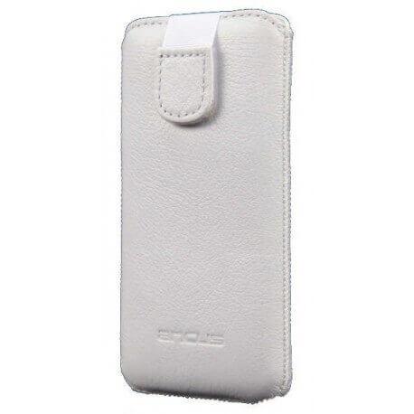 Θήκη Protect Ancus για Apple iPhone 5/5S/5C Δέρμα Λευκή