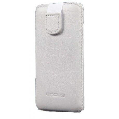 Θήκη Protect Ancus για Samsung i9505/i9500 Galaxy S4 Δέρμα Λευκή