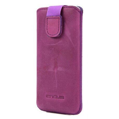 Θήκη Protect Ancus για Apple iPhone 5/5S/5C Δέρμα Μώβ