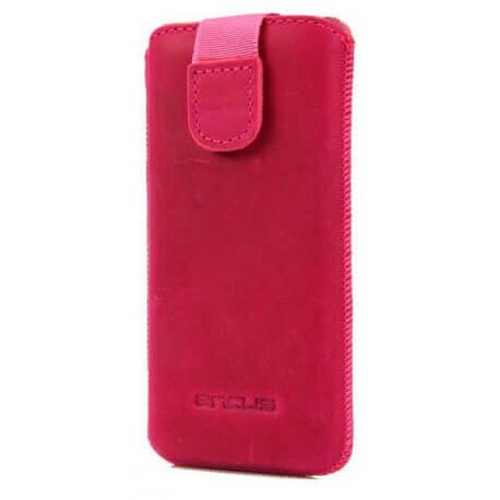 Θήκη Protect Ancus για Apple iPhone 5/5S/5C Δέρμα Φούξια