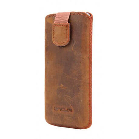 Θήκη Protect Ancus για Apple iPhone 5/5S/5C Δέρμα Λαδί