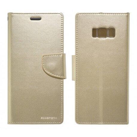 Θήκη Book Goospery Bravo Diary για Samsung SM-G955F Galaxy S8+ Χρυσαφί by Mercury