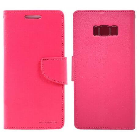 Θήκη Book Goospery Bravo Diary για Samsung SM-G955F Galaxy S8+ Φούξια by Mercury