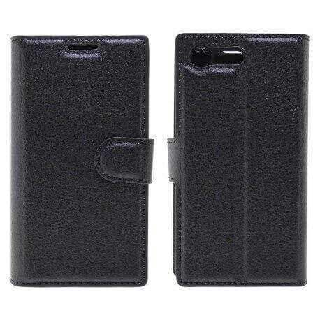 Θήκη Book Ancus Teneo για Sony Xperia X Compact TPU Μαύρη