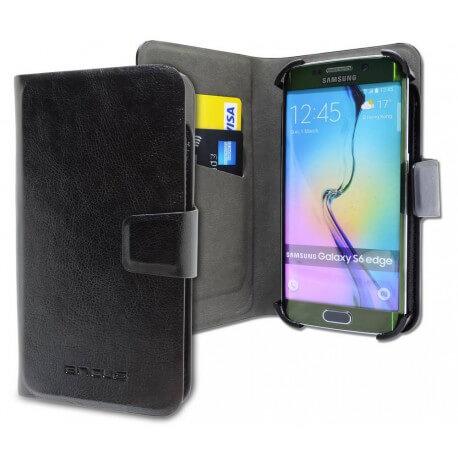 """Θήκη Book Ancus Universal Elastic Hook για Smartphone 4.7"""" - 5.3'' Ίντσες Μαύρη (14 cm x 7 cm)"""