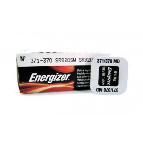 Buttoncell Energizer 371-370 SR920SW SR620W Τεμ. 1