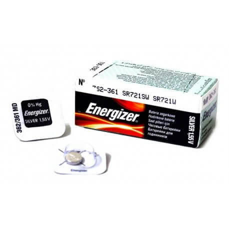 Buttoncell Energizer 362-361 SR721SW SR721W Τεμ. 1
