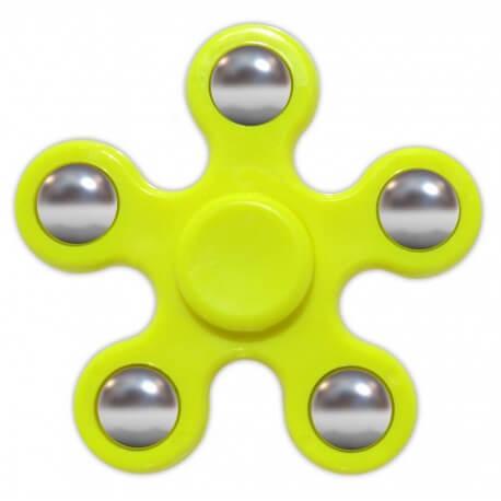 Fidget Spinner ABS Plastic 5 Leaves Κίτρινο 2.5 min