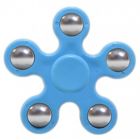 Fidget Spinner ABS Plastic 5 Leaves Μπλέ 2.5 min