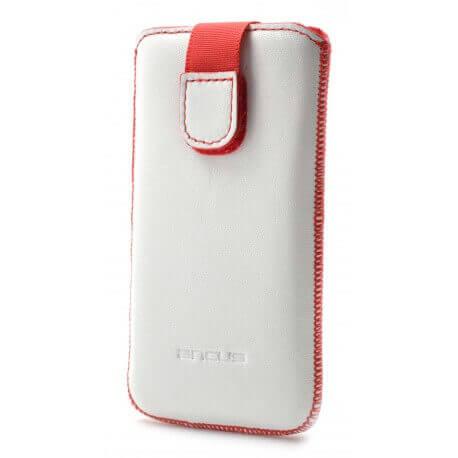 Θήκη Protect Ancus για Samsung i9100 Galaxy S II Δέρμα Λευκή με Κόκκινη Ραφή