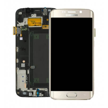 Γνήσια Οθόνη & Μηχανισμός Αφής Samsung SM-G925F Galaxy S6 Edge Χρυσαφί GH97-17162C
