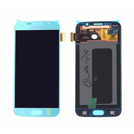 Γνήσια Οθόνη & Μηχανισμός Αφής Samsung SM-G920F Galaxy S6 με Κόλλα Μπλέ GH97-17260D