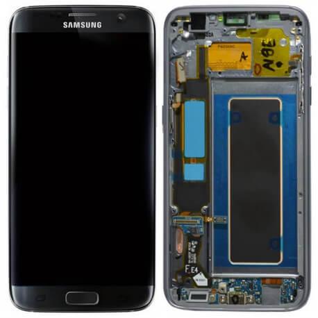 Γνήσια Οθόνη & Μηχανισμός Αφής Samsung SM-G935F Galaxy S7 Edge Μαύρο με Πλαίσιο και Επαφή Φόρτισης GH97-18533A