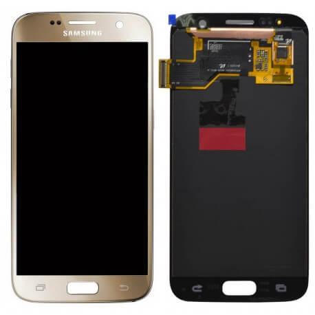 Γνήσια Οθόνη & Μηχανισμός Αφής Samsung SM-G930F Galaxy S7 χωρίς Κόλλα Χρυσαφί GH97-18523C
