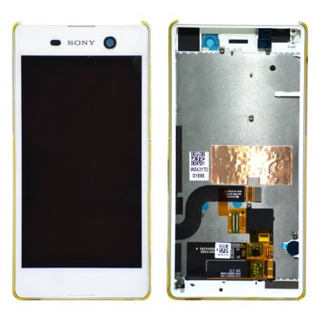 Γνήσια Οθόνη & Μηχανισμός Αφής Sony Xperia M5 E5603 Λευκό 191HLY0004B-WCS