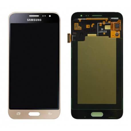 Γνήσια Οθόνη & Μηχανισμός Αφής Samsung SM-J320F Galaxy J3 (2016) Χρυσαφί GH97-18414B, GH97-18748B