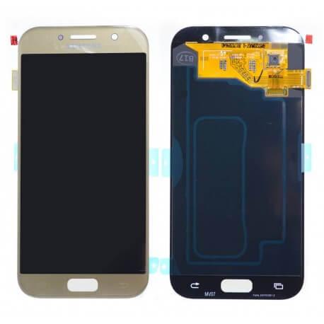 Γνήσια Οθόνη & Μηχανισμός Αφής Samsung SM-A520F Galaxy A5 (2017) Χρυσαφί GH97-19733B