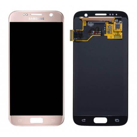 Γνήσια Οθόνη & Μηχανισμός Αφής Samsung SM-G930F Galaxy S7 χωρίς Κόλλα Ρόζ Χρυσαφί GH97-18523E