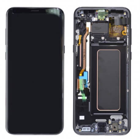 Γνήσια Οθόνη & Μηχανισμός Αφής Samsung SM-G955F Galaxy S8+ Μαύρο GH97-20470A