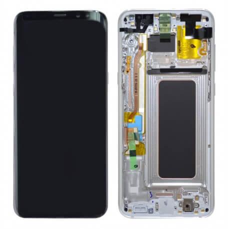 Γνήσια Οθόνη & Μηχανισμός Αφής Samsung SM-G955F Galaxy S8+ Ασημί GH97-20470B