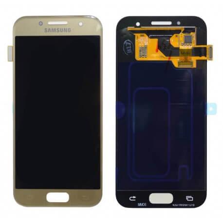 Γνήσια Οθόνη & Μηχανισμός Αφής Samsung SM-A320F Galaxy A3 (2017) Χρυσαφί GH97-19732B