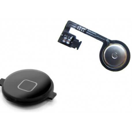 Σέτ Κεντρικού Πλήκτρου Apple iPhone 4S Μαύρο Original
