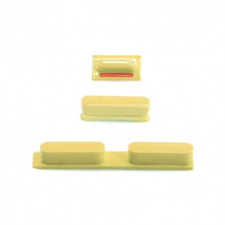 Σέτ Πλήκτρων Apple iPhone 5C Κίτρινο Original