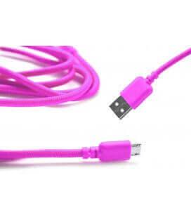 Καλώδιο σύνδεσης Κορδόνι Ancus USB σε Micro USB με Ενισχυμένες Επαφές  Ρόζ