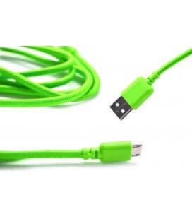 Καλώδιο σύνδεσης Κορδόνι Ancus USB σε Micro USB με Ενισχυμένες Επαφές Πράσινο