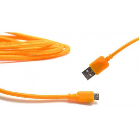 Καλώδιο σύνδεσης Κορδόνι Ancus USB σε Micro USB με Ενισχυμένες Επαφές Πορτοκαλί