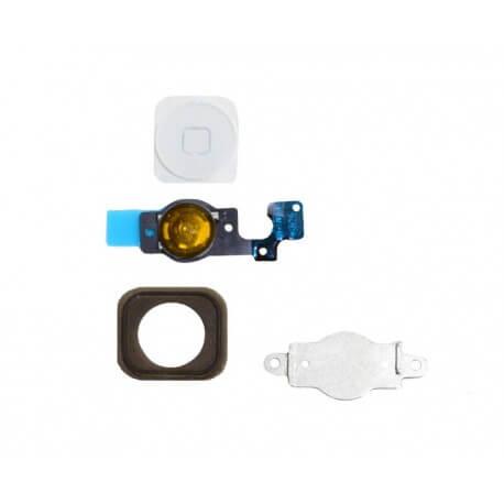 Πλήρες Σέτ Κεντρικού Πλήκτρου Apple iPhone 5C Λευκό Original
