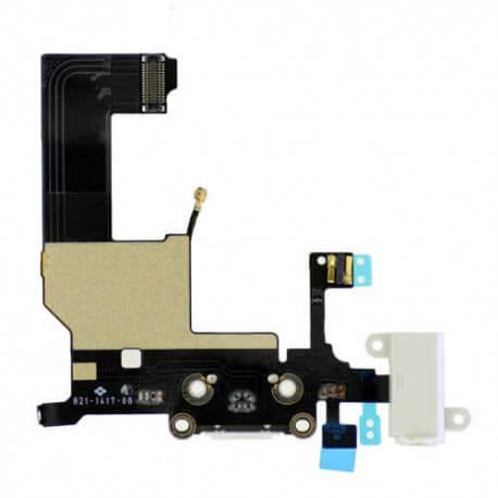 Επαφή Φόρτισης Apple iPhone 5 με Μικρόφωνο και Επαφή Ακουστικών Λευκό Original