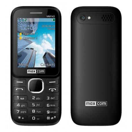 Maxcom MM143 3G (Dual Sim) με Κάμερα, Bluetooth, Φακό και Ραδιόφωνο Μαύρο