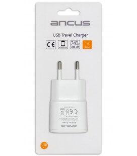 Φορτιστής Ταξιδίου Ancus Usb 1000 mAh Switching 5V Λευκός