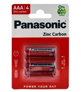 Μπαταρία Zinc Carbon Panasonic R03 size AAA 1.5V Τεμ, 1