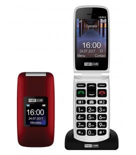 "Maxcom MM824 2.4"" με Κάμερα, Ραδιόφωνο, Πλήκτρο Έκτακτης Ανάγκης & Κατάλληλο για Ακουστικά Βαρηκοϊας Κόκκινο"