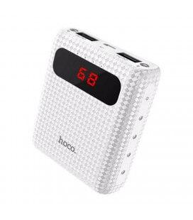 Power Bank Hoco B20 Mige 10000 mAh με 2 Θύρες USB, Φακό και LED Ενδείξεις Λευκό